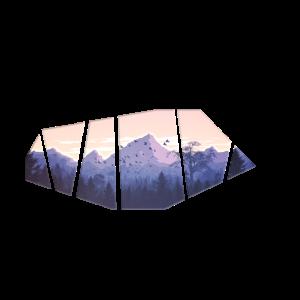 Berge Ausschnitt