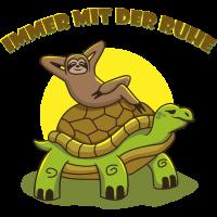 Faultier Schildkröte IMMER MIT DER RUHE Geschenk