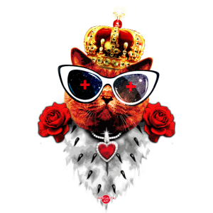48 Red Cat King Queen Sunglasses Crown Roses