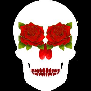 Totenkopf rose skull Schädel Totenschädel rosen