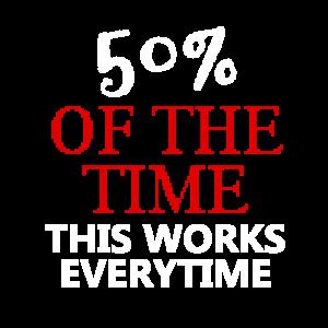 Die Hälfte der Zeit funktioniert dies bei jedem Projekt