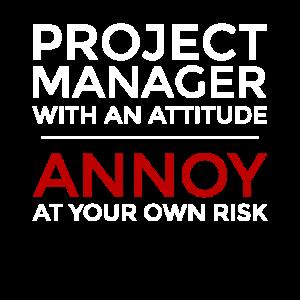 Projektmanager mit einer Einstellung, ärgern Sie sich über Ihre