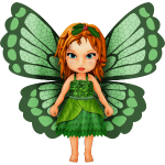 Little fairy, elves with leaves