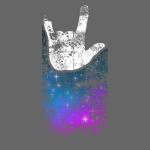 ILY Handsign Galaxy