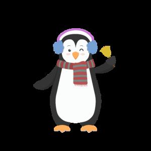 Hi - Pinguin - Winkt