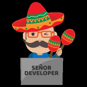 Senior Developer Schnurrbart Sombrero Geschenkidee