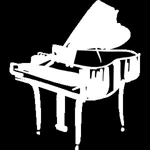 Weißes Klavier