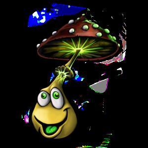 Glücklicher Pilz