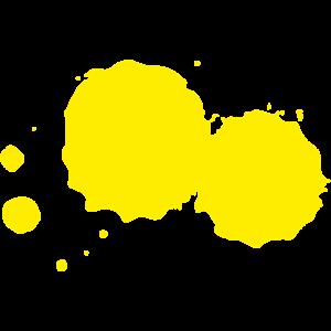 Farbklecks Klecks Farbspritzer Maler Geschenk gelb