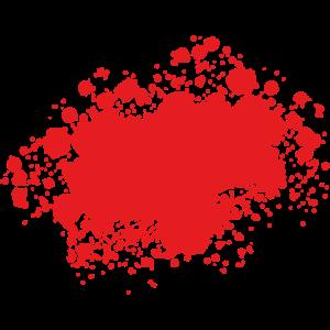 Farbklecks Klecks Farbspritzer Maler Geschenk rot
