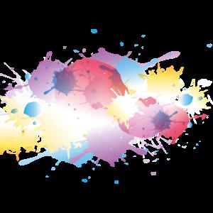 Farbverlauf Klecks Farbspritzer Kunst Geschenk