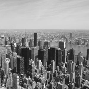 NYC von oben Schwarz/Weiß