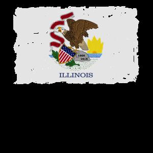 Illinois Fahne - Illinois Flag