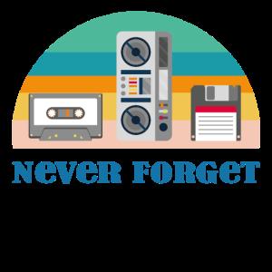 Never Forget - Retro Technik aus den 80er