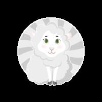 kleines Schaf Schäfchen Logo