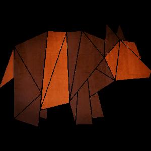 Origami: Bär (Pergament-Optik)