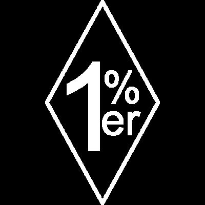 Onepercenter Einprozenter 1%er - Onepercenter Einprozenter 1%er Motiv für Biker, Rocker Motorradfahrer - Rocker,Onepercenter,MC,Kutte,FTW,Einprozenter,Chopperfahrer,Chopper,Bobber,Biker,Bike,666,1%er,1%
