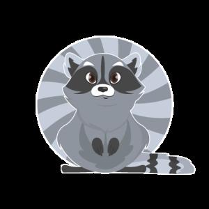 Waschbär Logo Racoon