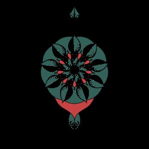 Buntes spirituelles Mandala