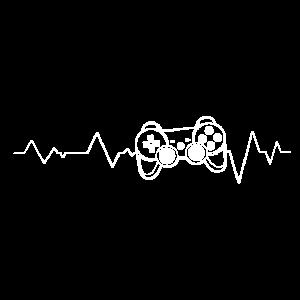 Zocker Herzschlag Gamer Heartbeat