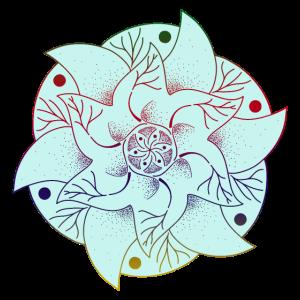 Regenbogen Esoterik Mandala