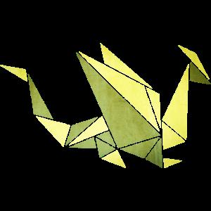 Origami: Drache (Pergament-Optik)