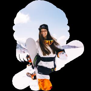 Snowboarder Schnee Winter Geschenk Berge