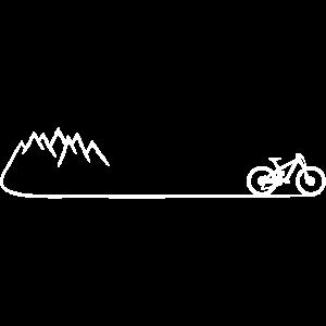 Mountainbike Fahrrad Berge Mountainbiker Geschenk