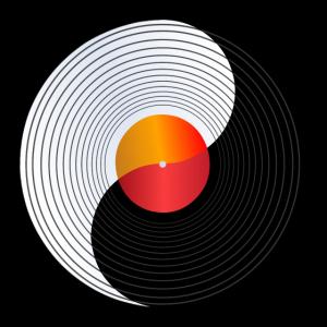 Schallplatte - Geschenkidee - Yin und Yang