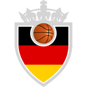 Basketball Flagge Emblem Deutschland