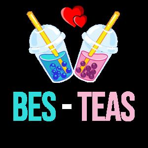 Bubble Tee Beste Freunde Valentinstaggeschenk Süß