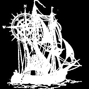 Schiff | Kompass | gezeichnet | Geschenkidee
