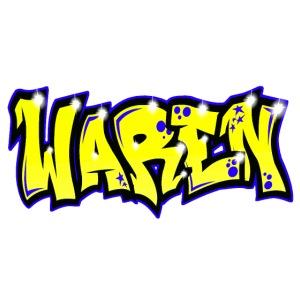 GRAFFITI TAG WAREN PRINTABLE ON EVERYTHING +YELLOW