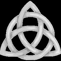 keltischer Triquetra Knoten graustufen