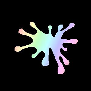 Farbklecks | Farbe Maler Geschenkidee