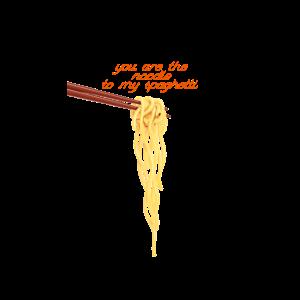 Spaghetti mit Stäbchen