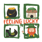 feeling lucky - Bleib glücklich - St. Patrick' day