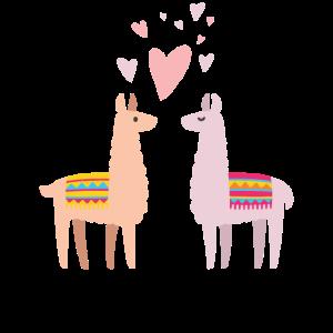 Alpaka Lama Lustig Paare Geschenk Valentinstag