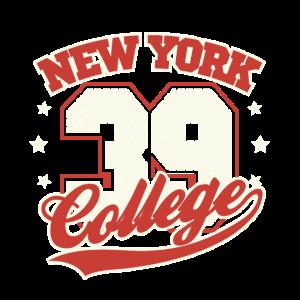 New York College 39 - Football T-Shirt