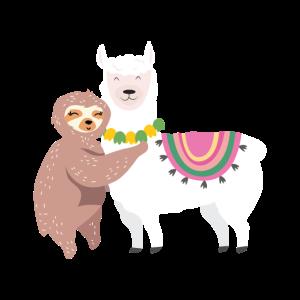 Faultier & Lama Verliebt | Lustige Tiere Liebe