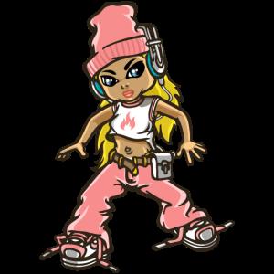 Hip hop girl In pink