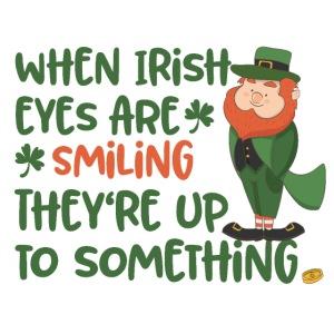 Irish eyes shine - Irish leprechaun