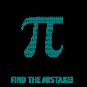 Pi Zahl unendlich Finde Fehler Symbol Mathe Nerd