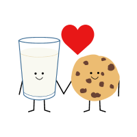 Milch und Cookie Liebe Valentinstag Geschenk Fun