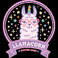 Llamacorn Lama Einhorn pink