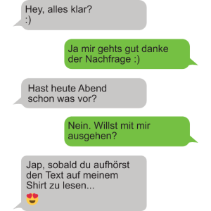 Lustiges Motiv WhatsApp Date Singel Party