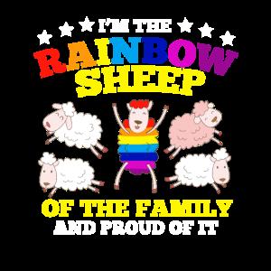 LGBT Stolz Regenbogen Schaf Familie Geschenk