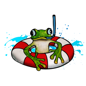 Frosch mit Schnorchel