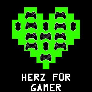 Herz fuer Gamer - Valentins Tag Geschenk