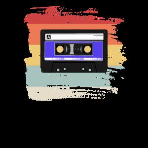 Retro Vintage Audio Kassette 80er Jahre Geschenk
